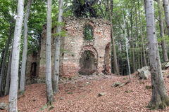Ruins of the Baroque chapel of Saint Mary Magdalene Royalty Free Stock Images