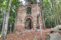 Ruins of the Baroque chapel of Saint Mary Magdalene Stock Photography
