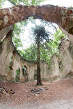 Ruins of the Baroque chapel of Saint Mary Magdalene Royalty Free Stock Photo
