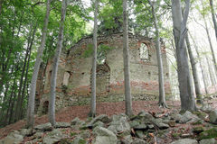 Ruins of the Baroque chapel of St. Mary Magdalene Stock Photography