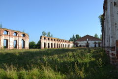 Ruins, barracks, antiquity, history, town, Russia. Ruins Royalty Free Stock Photos