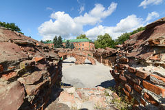 Ruins of the barracks basements. Brest Fortress Stock Image