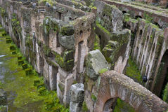 Ruins of the basement of The Colisseum. Royalty Free Stock Images