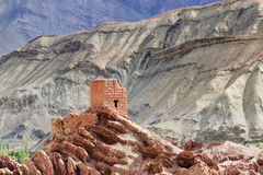 Ruins, Basgo Monastery, Leh ladakh, Jammu and Kashmir, India Royalty Free Stock Image