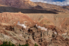 Ruins and Basgo Monastery, Leh, Ladakh, Jammu, Kashmir, India Stock Photography