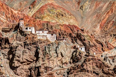 Ruins and Basgo Monastery, Leh, Ladakh, Jammu and Kashmir, India Royalty Free Stock Photos