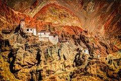 Ruins and Basgo Monastery, Leh, Ladakh, Jammu and Kashmir, India Royalty Free Stock Image