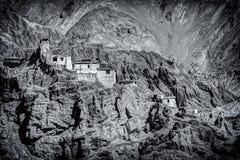 Ruins and Basgo Monastery, Leh, Ladakh, Jammu and Kashmir, India Stock Photography