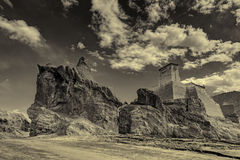 Ruins and Basgo Monastery, Leh, Ladakh, Jammu & Kashmir, India Royalty Free Stock Photo
