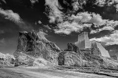 Ruins and Basgo Monastery, Leh, Ladakh, Jammu & Kashmir, India Stock Images
