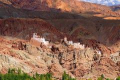 Ruins at Basgo Monastery Royalty Free Stock Photos