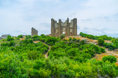 The ruins of Basilica in Aspendos Stock Photos