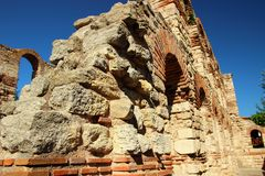 The ruins of the Basilica Stock Photos