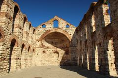 The ruins of the Basilica on the background of sky Royalty Free Stock Images