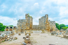 The ruins of basilica in Perge Royalty Free Stock Images