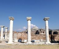 Ruins Basilica St. John Selcuk Turkey. Basilica of St. John in Selcuk (Ephesus) Turkey Royalty Free Stock Photography