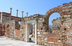 The ruins of basilica of St. John, Turkey Royalty Free Stock Photos