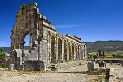 Ruins of the Basilica in Volubilis Royalty Free Stock Photos