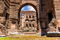 The ruins of the Baths of Caracalla. Stock Image