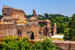 The ruins of the Baths of Caracalla. Royalty Free Stock Photo