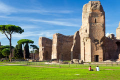 The ruins of the Baths of Caracalla in Rome Royalty Free Stock Photography