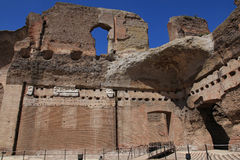 The ruins of the Baths of Caracalla in Rome Stock Image