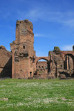 The ruins of the Baths of Caracalla in Rome Stock Photography