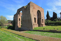 The ruins of the Baths of Caracalla in Rome Stock Photo