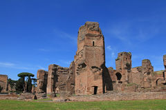 The ruins of the Baths of Caracalla in Rome Royalty Free Stock Image