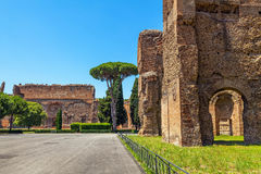 The ruins of the Baths of Caracalla. Stock Photography