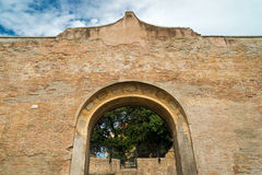 Ruins of the baths of Diocletian in Rome Stock Photo