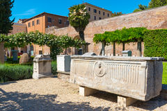 The ruins of the Baths of Diocletian in Rome Stock Images