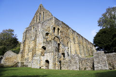 Ruins of Battle Abbey in England Stock Image