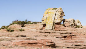 Ruins of beacon at Little Eye in the river Dee Estuary Royalty Free Stock Photography