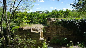 Ruins. Beautiful ruins of a wall near Piazzale Michelangelo in Florence,Italy Royalty Free Stock Photography