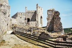 Ruins of Beckov castle, Slovak republic, travel destination. Ruins of Beckov castle, Slovak republic, Europe. Travel destination. Cultural heritage stock photo