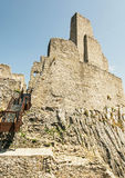 Ruins of Beckov castle, Slovak republic, travel destination, ver Royalty Free Stock Photos