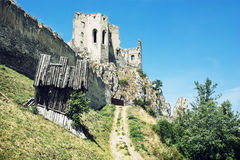 Ruins of Beckov castle, Slovakia Stock Photography