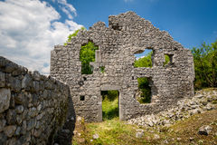 Ruins of Bedem fortress in Niksic, Montenegro royalty free stock image