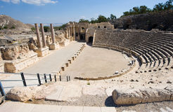 Ruins of Beit She'an. The amphitheatre of Beit She'An in Galilee in Israel Stock Image