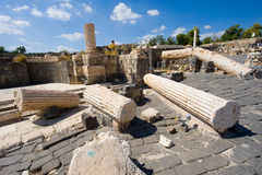 Ruins of Beit She'an. Ruins of the roman period in Beit She'An in Galilee in Israel Royalty Free Stock Images