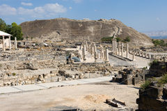 Ruins of Beit She'an Stock Image
