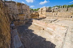 Ruins of Beit She'an. Ruins of the roman period in Beit She'An in Galilee in Israel, this was a bathhouse Stock Photo