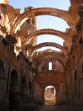 Ruins of Belchite. Belchite after the civil war Stock Photo