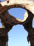 Ruins of Belchite. Belchite after the civil war Royalty Free Stock Image