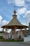 Ruins of the bell tower, Joseph-Volokolamsk Monastery, Moscow re Royalty Free Stock Image