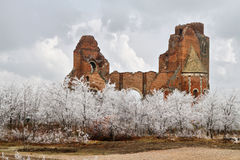 The ruins of the Benedictine monastery of Araca. It is protected by law as a national cultural heritage Stock Image