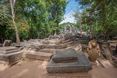 Ruins of Beng Mealea, Angkor, Cambodia Royalty Free Stock Images