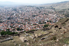 Ruins and Bergama Royalty Free Stock Photography