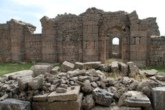 Ruins in Bergama Stock Image